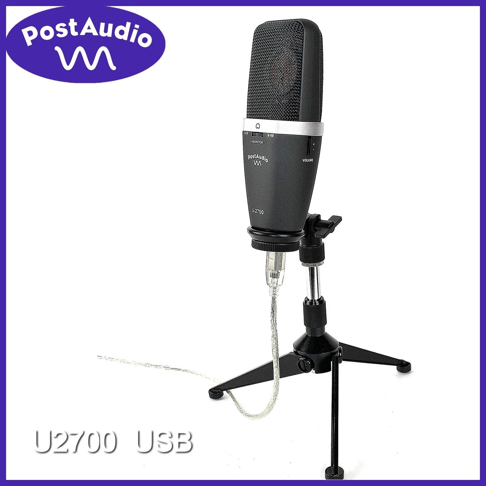 Post Audio U2700 Studio USB Condenser Mic with Complete Computer Interface