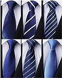 Weishang Pack of 6 Men's Classic Tie Silk Necktie Woven Jacquard Neck Ties