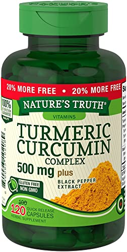 Nature s Truth Turmeric Curcumin Complex 500 mg Plus Black Pepper Extract, 120 Count