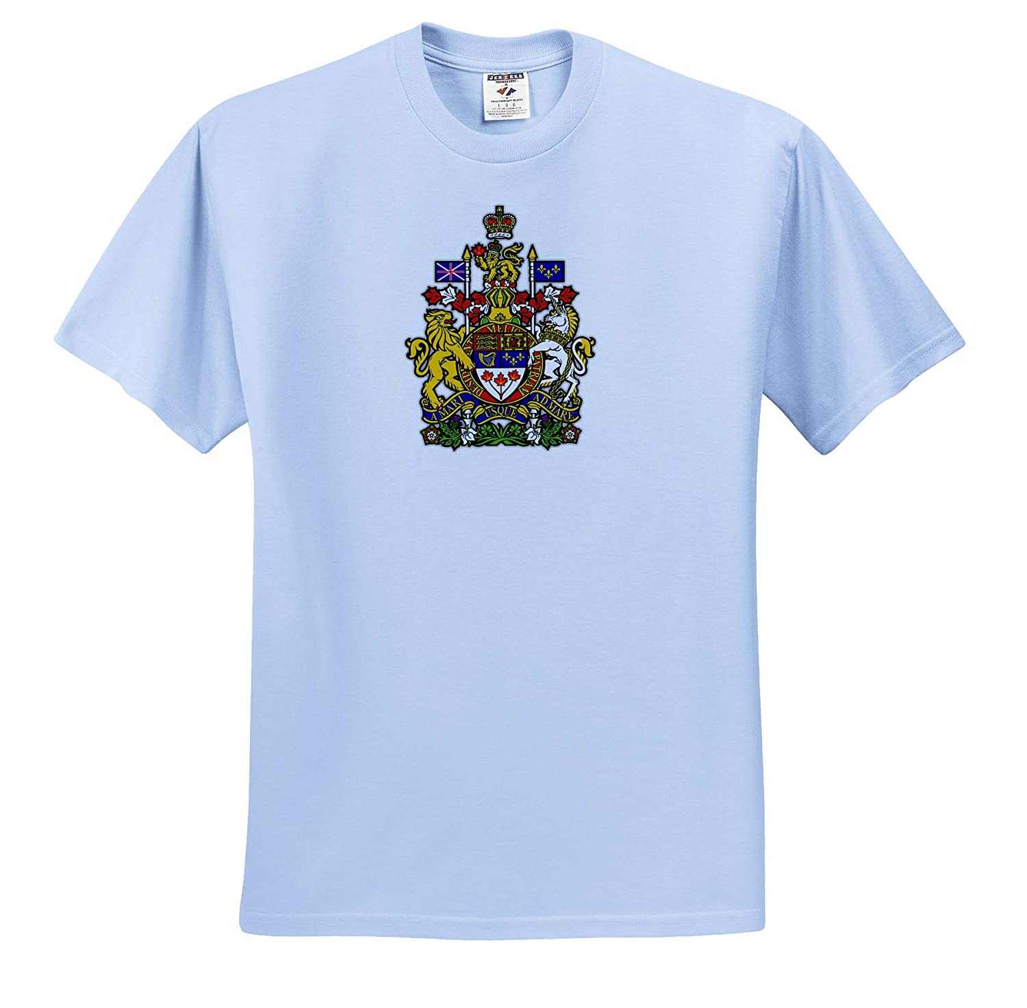 3dRose Carsten Reisinger ts/_318852 Illustrations Canada Coat of Arms National Symbol Icon Canadian Adult T-Shirt XL