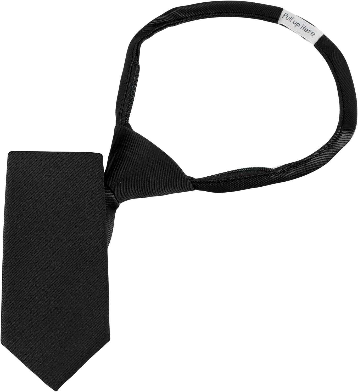 Boys Designer Pattern 11 inch Zipper Necktie