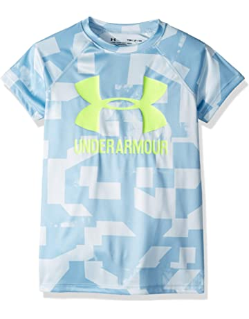 8101438fb Under Armour Girls' Big Logo Tee Novelty Short-Sleeve Shirt
