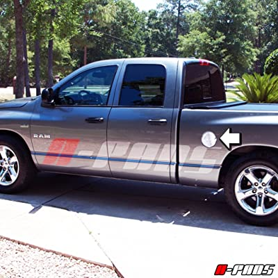 A-PADS Chrome Gas Door Cover for Dodge RAM 1500 2002-2008: Automotive