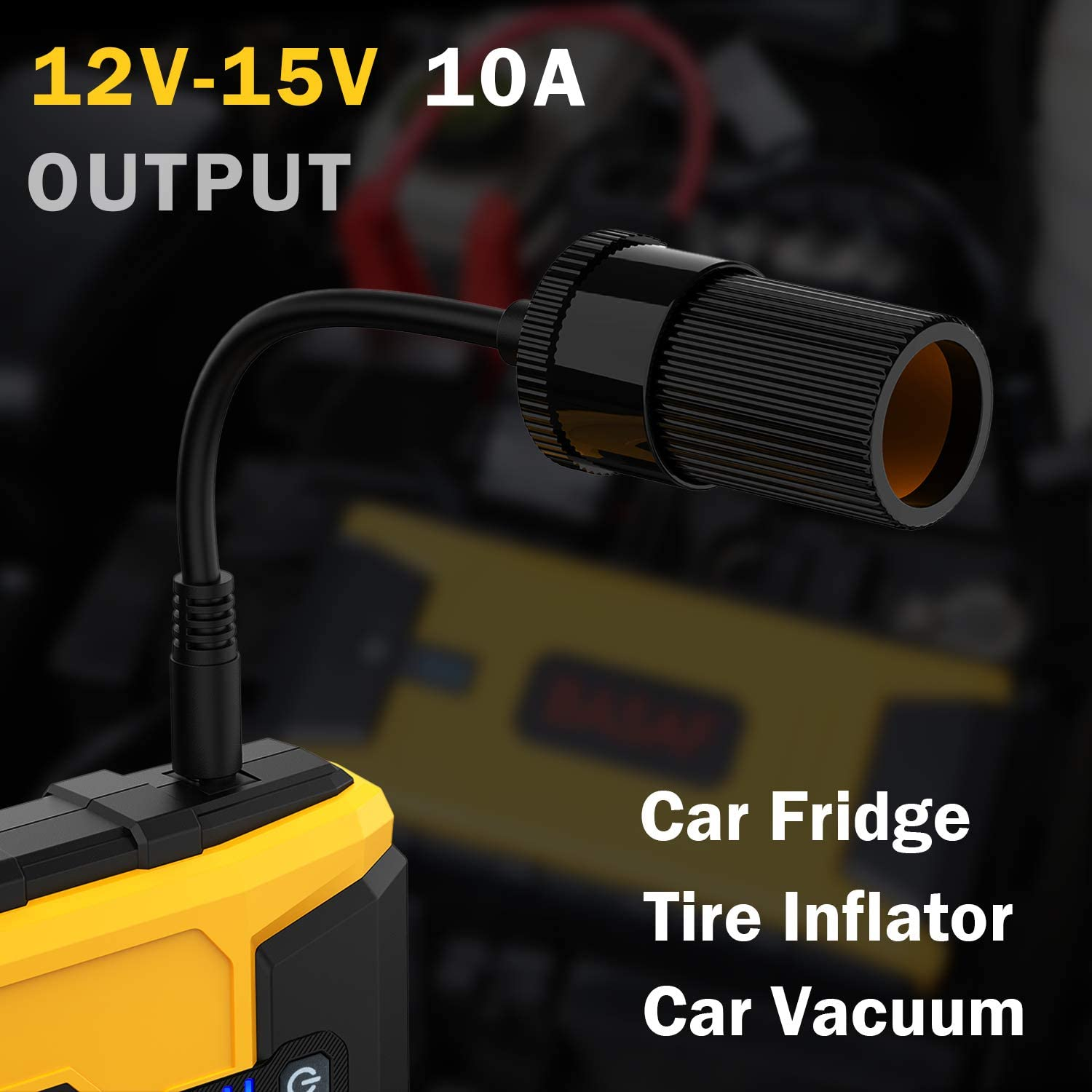 Car Jump Starter 1200A Peak 16800mAh for up to 8L Gas and 6L Diesel Engines Type-C in//out Port USB Quick Charge 3.0 12V Car Portable Battery Booster