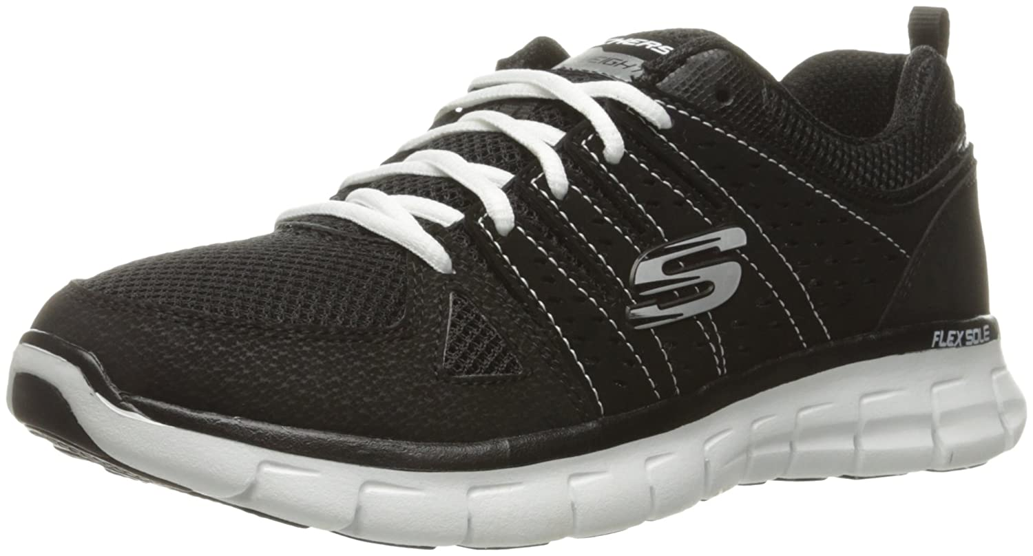 Skechers Sport Women's Synergy Look Book Fashion Sneaker B01HH0VQLC 11 M US|Black/White
