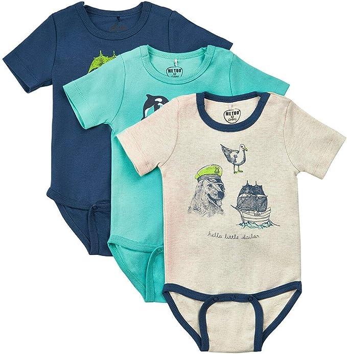 Paket enthält 4 Bodys NEU!!! 5 x Baby Langarm Body Größe 62 Für Jungs