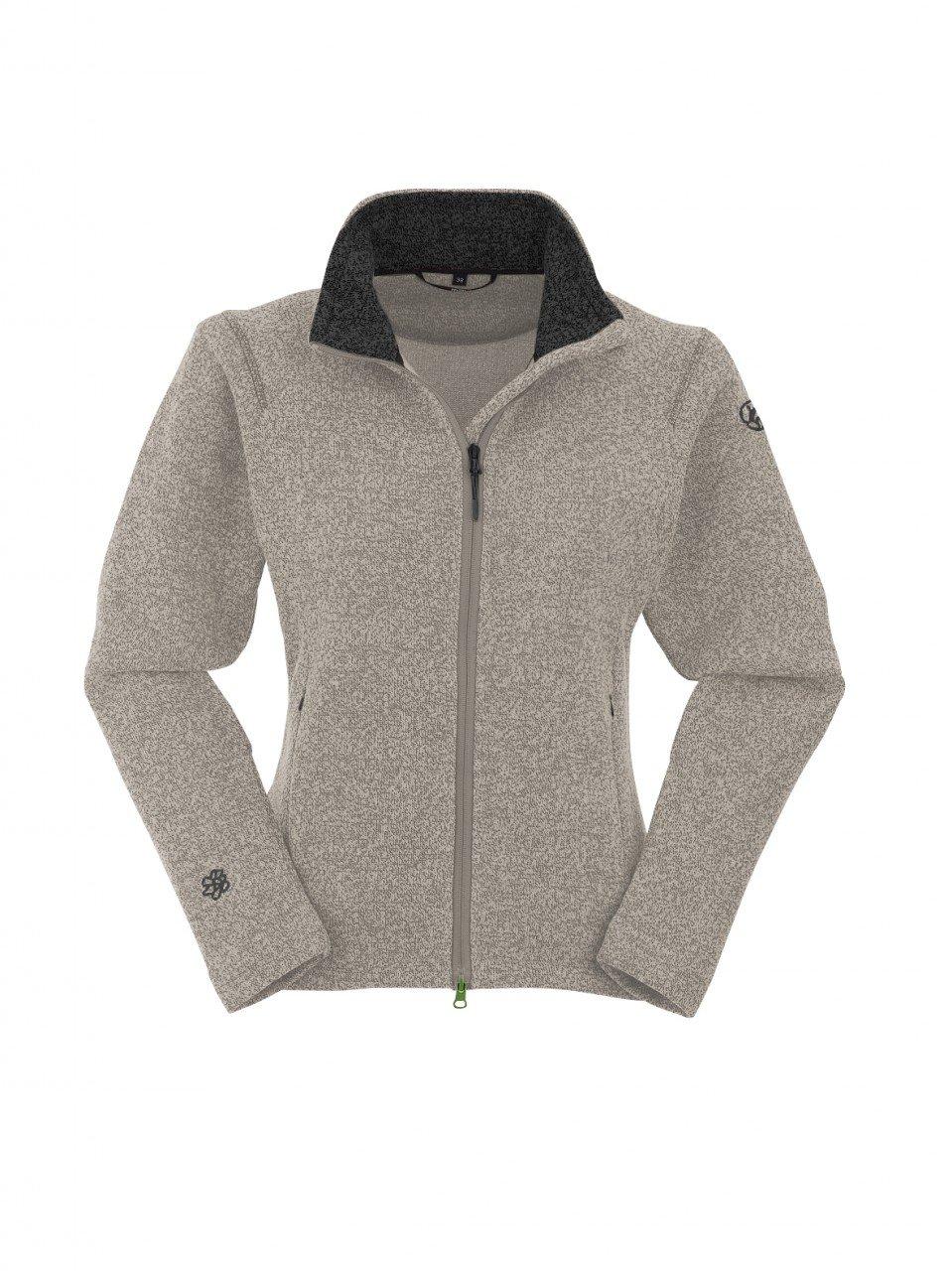 Maul Women's Outdoor Fleece Jacket Fleece Jacket Cardigan Brixen Beige