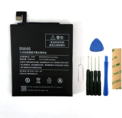 for Xiaomi Redmi Note 4X Replacement Battery BN43 Free Adhesive Tool