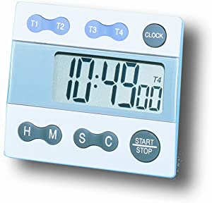 General Tools TI388 Digital Timer, Four Channel with Clock