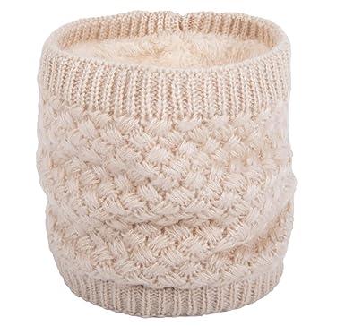 dd438155000 Yuson Girl Femmes Chaud laine tricot col cercle laine Blend Cowl Snood  multi-purpose écharpe