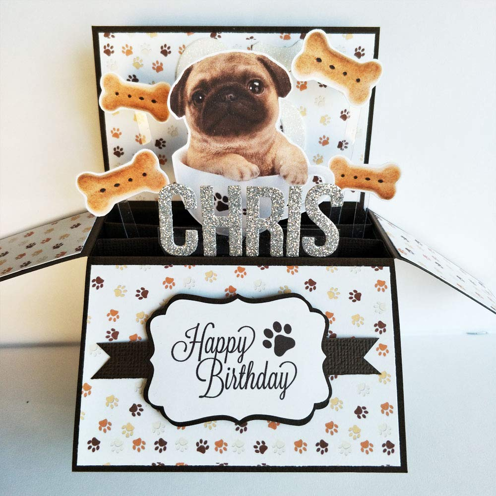 Amazon Name Age Personalised Handmade 3D Happy Birthday Card For Dog Lovers Puppy Greeting