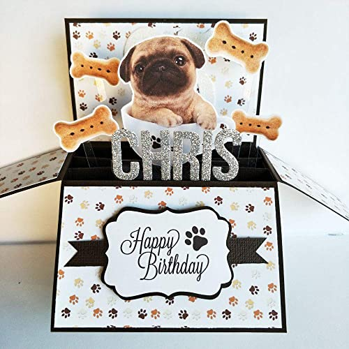Image Unavailable Not Available For Color Name Age Personalised Handmade 3D Happy Birthday Card Dog Lovers