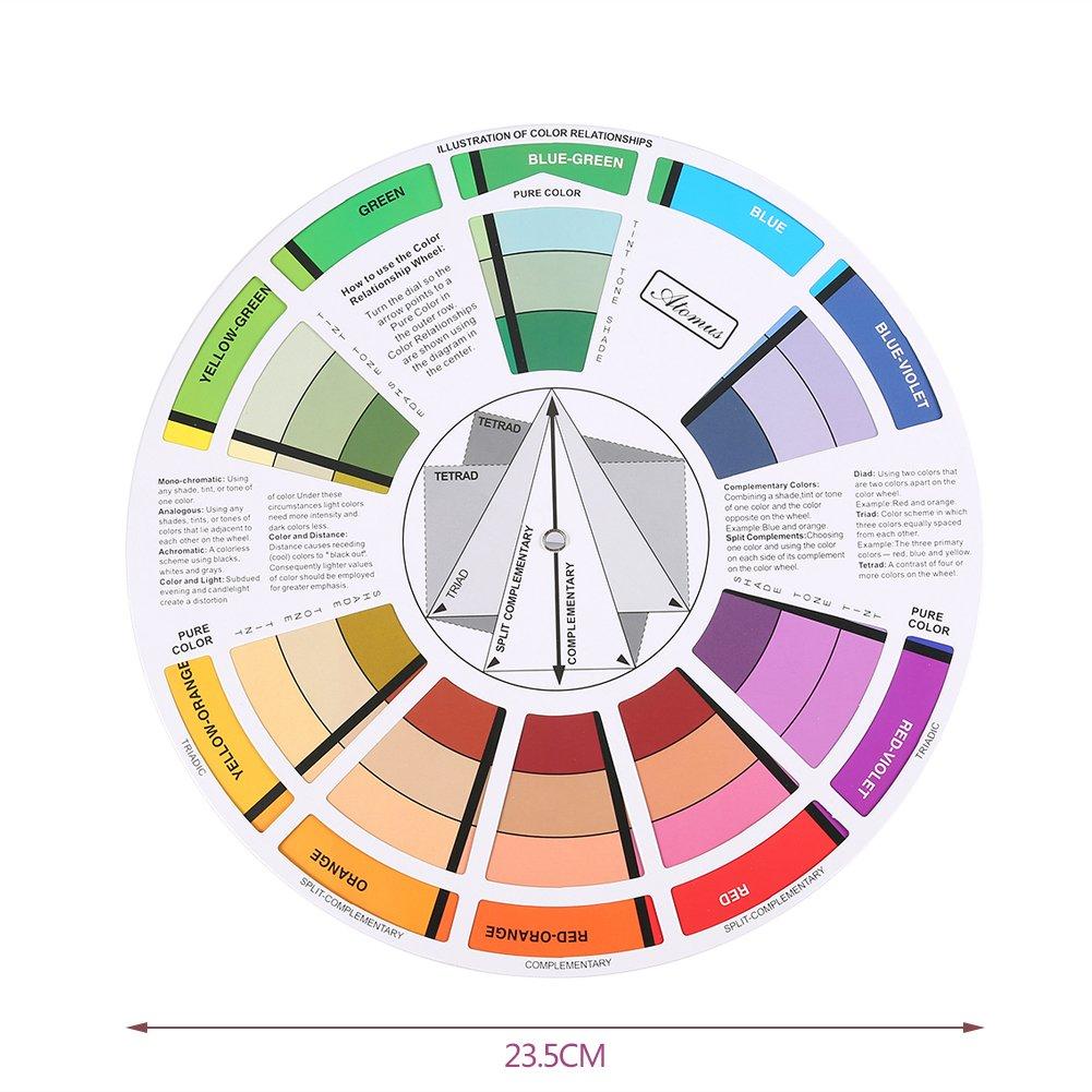 Healifty Pocket Colour Wheel Artist Tattoo Pigment Paint color mixing guide palette ruota corrispondenza grafico utensili scelta di colori