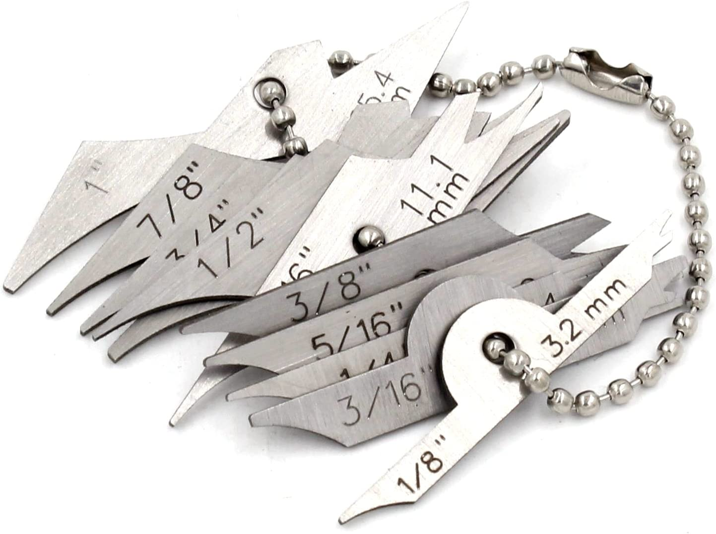 Mini Fillet Weld Keys Inspection Gauge Welding Radius Gage 10pcs Chain Set Amazon Ca Tools Home Improvement