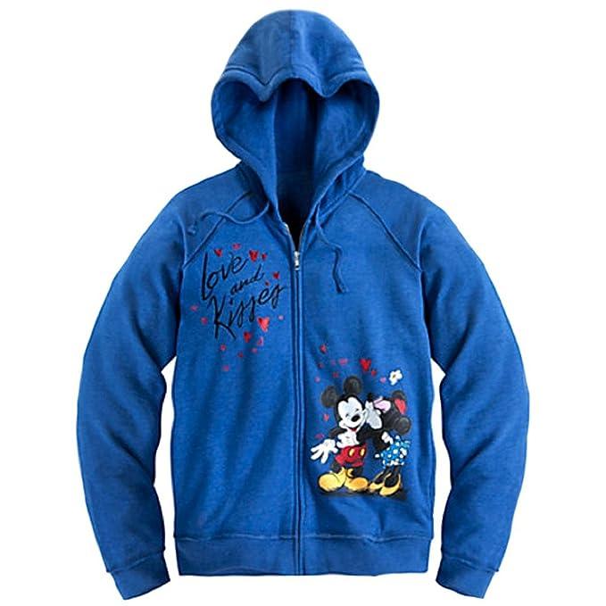 Sudadera con capucha y cremallera para mujer Mickey & Minnie Mouse (X Small)