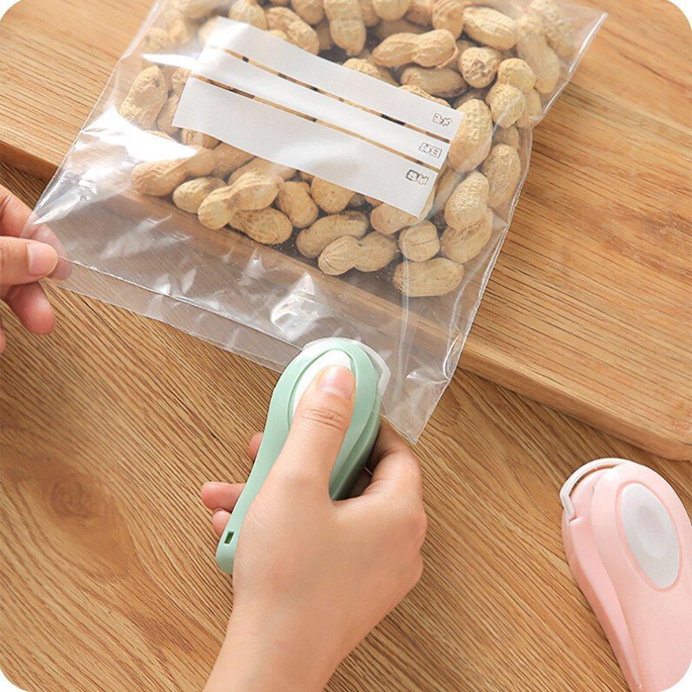 Mini Handheld Heat Sealing Machine Portable Package Resealer Impulse Sealer Seal Plastic Bag for Snack Bags Food Storage (Blue) by Codiak-Organizers (Image #3)