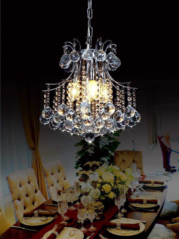 sin bombilla Lightsjoy L/ámpara Colgante Cristal 6/×Luces 40W 220V de Ara/ña Iluminaci/ón Estilo minimalista contempor/áneo para el Dormitorio Comedor Sala de estar Ba/ño pasillo Restaurante hotel etc