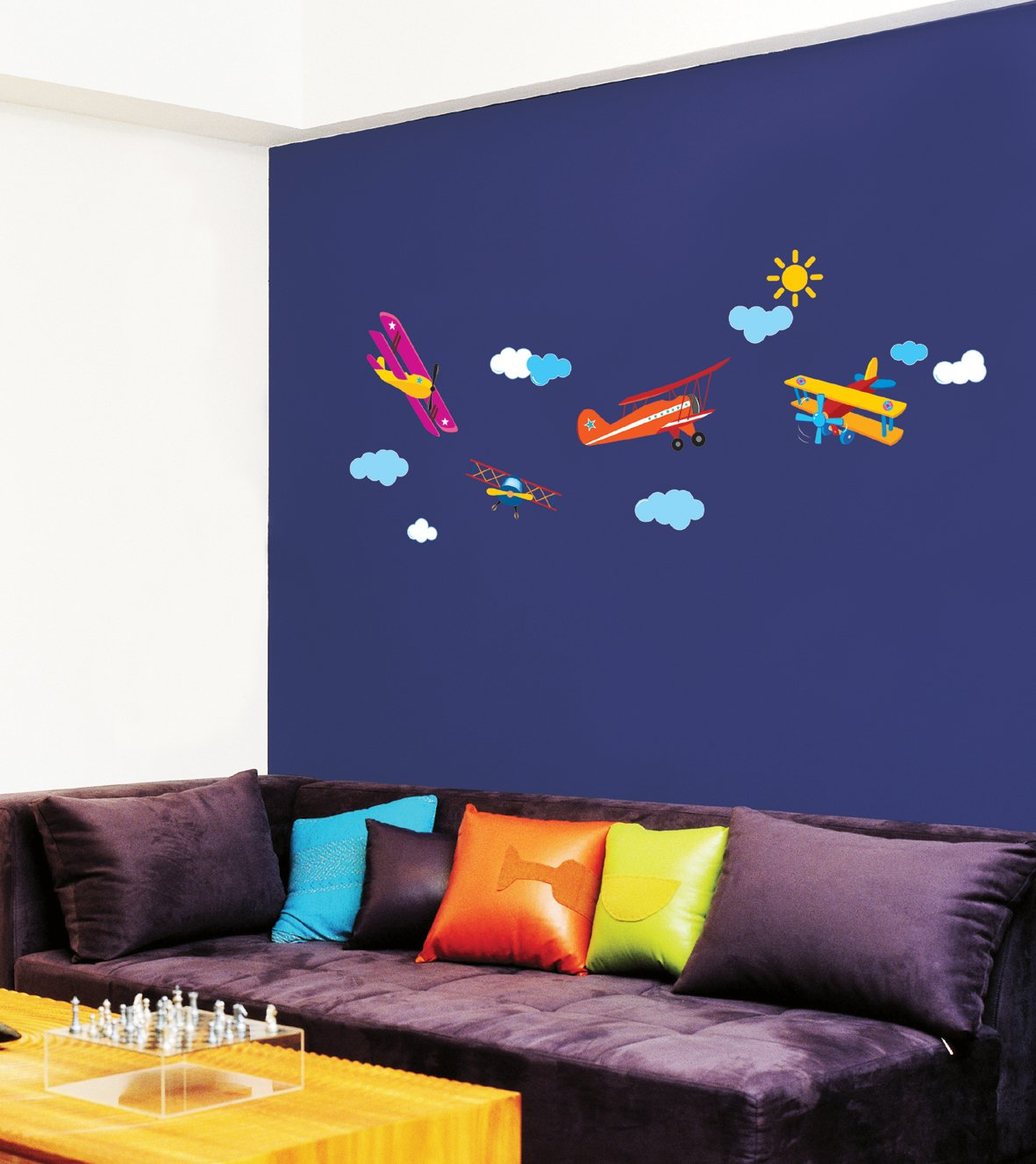 Amazon.com: Easy Instant Decoration Wall Sticker Decal   Airplanes: Baby