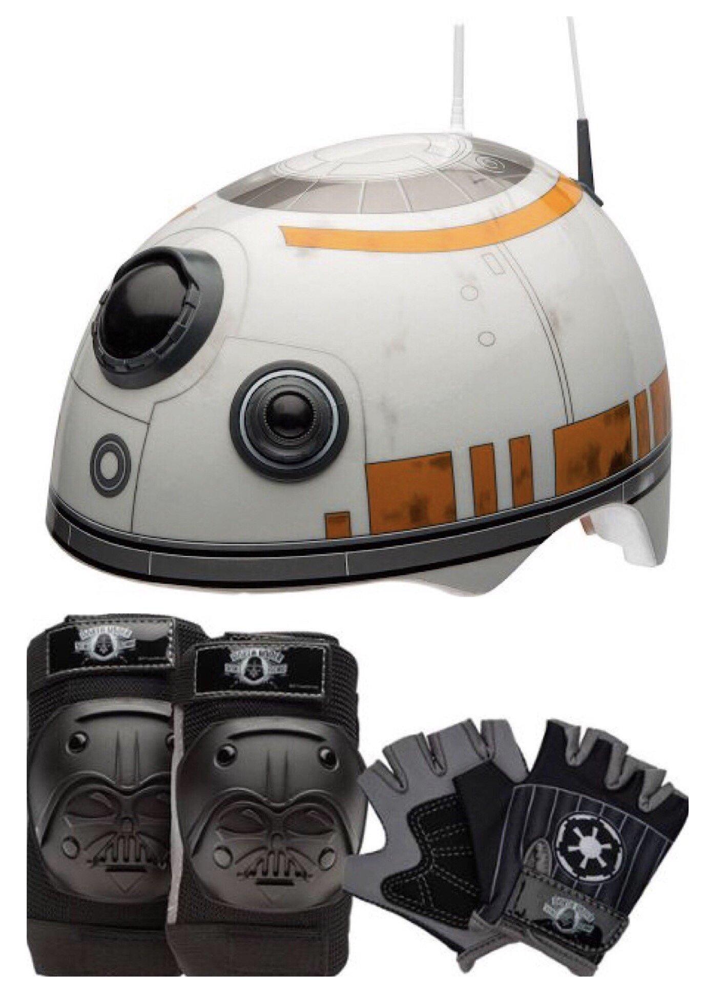 Star Wars Toddler Multi Sport Helmet with Darth Vader Pads & Gloves