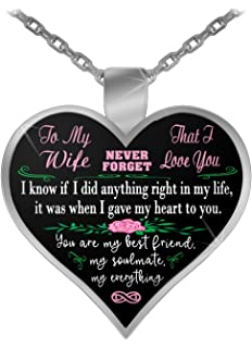 Amazoncom Smallwondergifts To My Future Wife Fiancé Necklace For