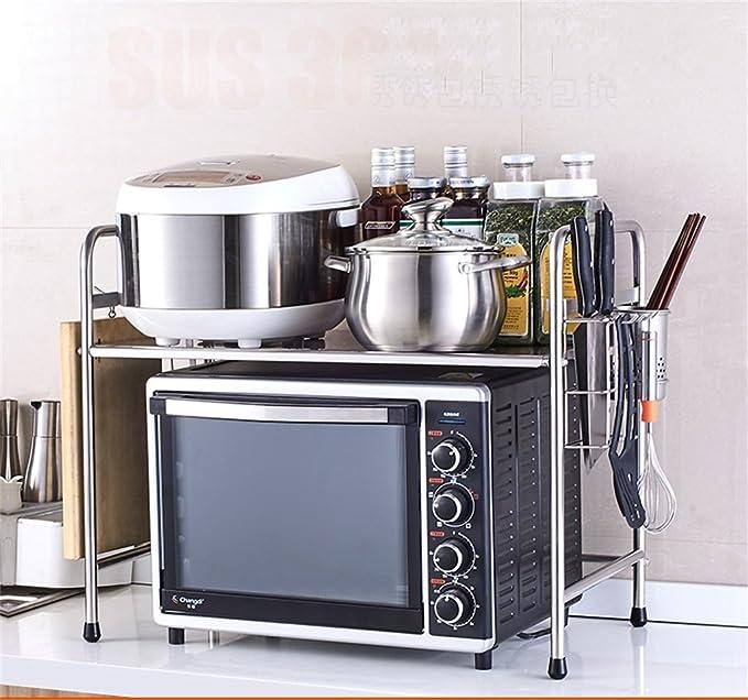Muebles de cocina Cocina de acero inoxidable Horno de microondas Estante Estante para horno Estante incorporado Estante de 2 capas WXP-armarios y ...