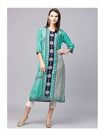 Amazon.com: Hiral Designer Plus Size Indian kurti for Women ...