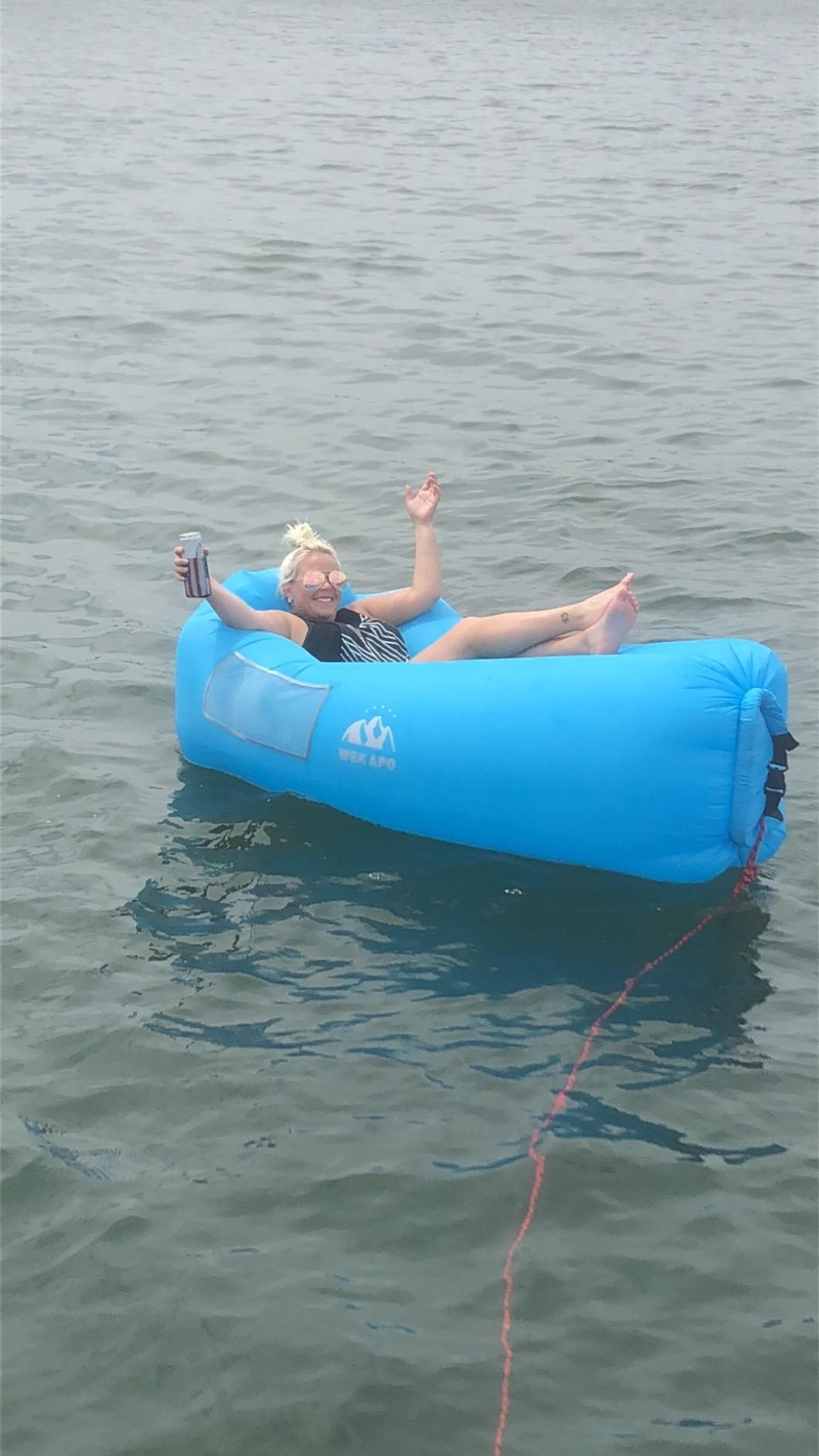 WEKAPO Inflatable Lounger Air Sofa Hammock-Love this! Works great on and off the water!