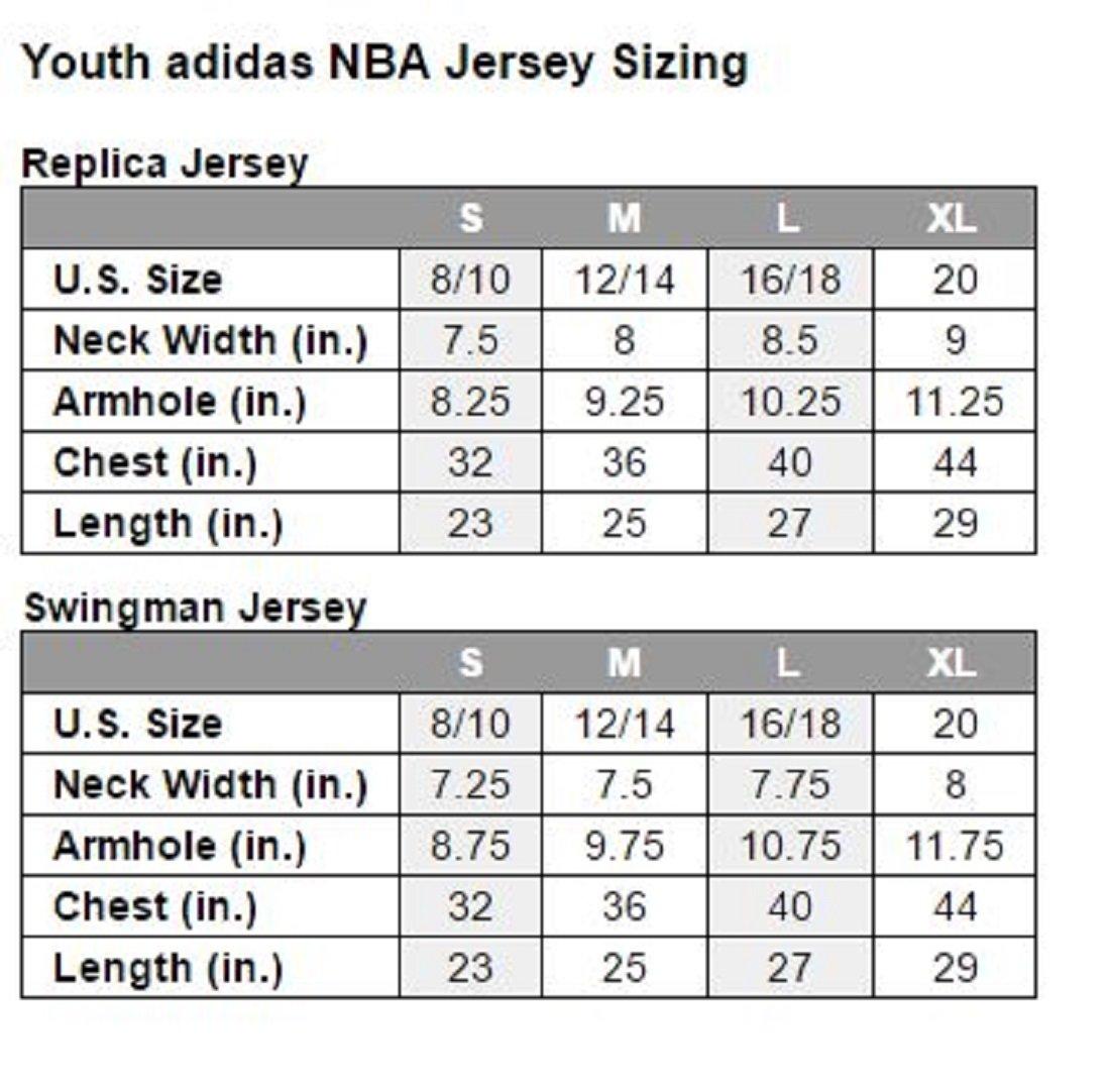 6a98efd62 Nike nba player Jersey size chart