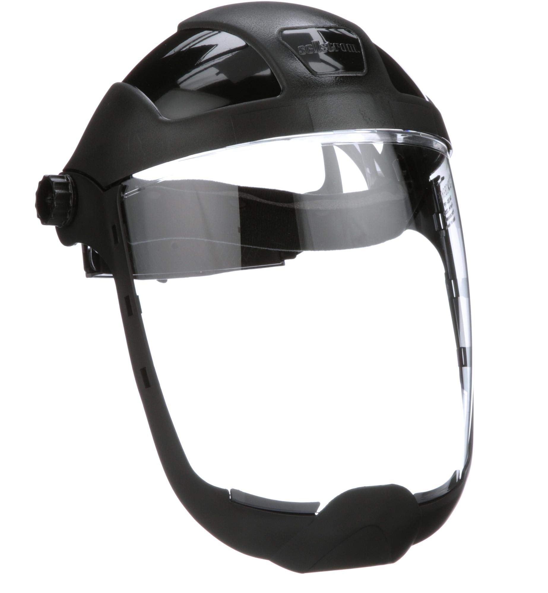 Sellstrom S32210 Clear Anti-Fog Polycarbonate Faceshield with Extended Chin Guard, Ratchet Headgear, ANSI Compliant by Sellstrom