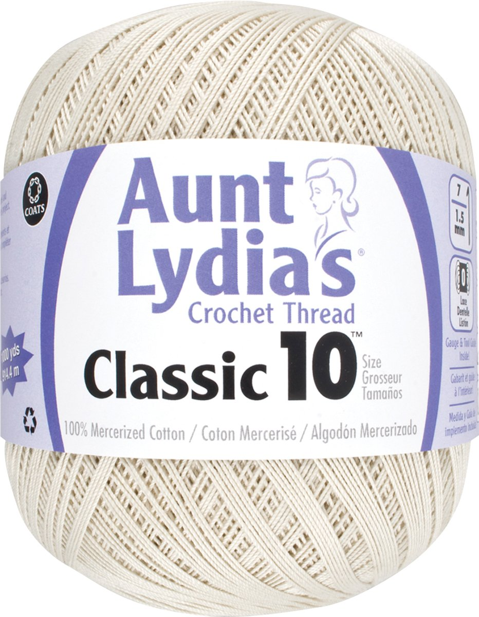 Brand New Aunt Lydia's Classic Crochet Thread Size 10 Value-Natural Brand New