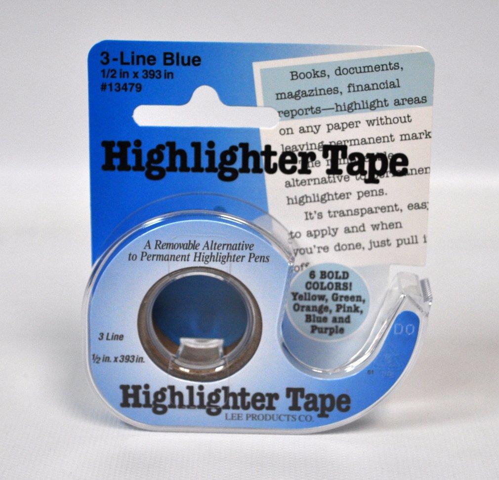 Removable Highlighter Tape Blue