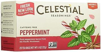 Amazoncom Celestial Seasonings Peppermint Tea 20 ct Grocery