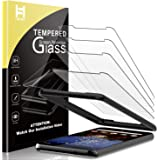 [4 Pack] HATOSHI Screen Protector for Google Pixel 3a Tempered Glass (NOT Fit Pixel 3a XL),[Alignment Tray Easy Installation]