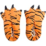 HOTINS Unisex Soft Plush Home Slippers Cosplay Costume Animal Paw Claw Shoes