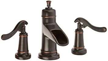 Pfister GT49YP1Y Ashfield 2 Handle 8u0026quot; Widespread Bathroom Faucet In  Tuscan Bronze