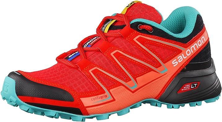 Salomon Speedcross Vario W, Zapatillas de Trail Running para Mujer, Rojo (Poppy Red/Black/Ceramic), 45 1/3 EU: Amazon.es: Zapatos y complementos
