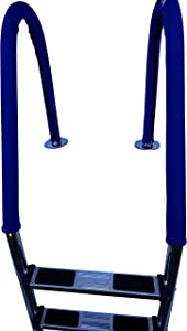FibroPool In Ground Swimming Pool Ladder and Rail Cover (Blue, 2 Pack)