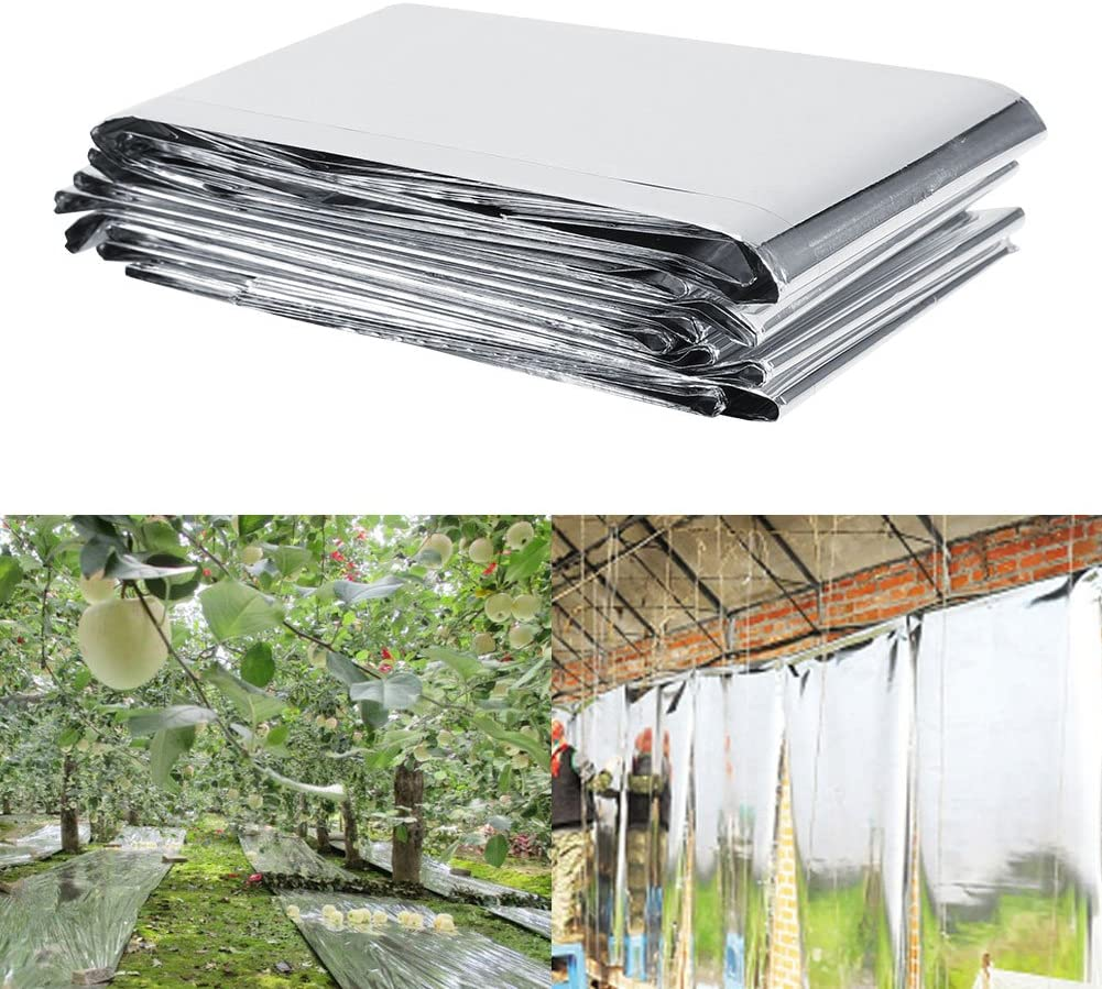 Eco-Friendly Plant Reflective Film Silver Mylar Roll for Greenhouse for Garden cigemay Reflective Mylar Reflective Film