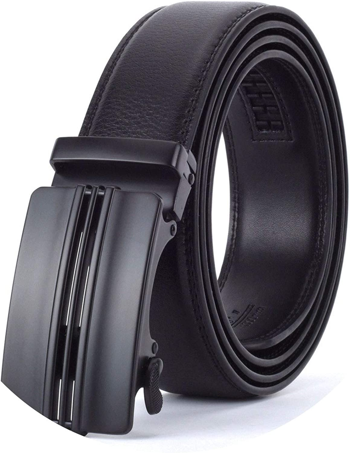 Go get it now Men Automatic Buckle Leather Belt Business Male Alloy buckle Belts for Men