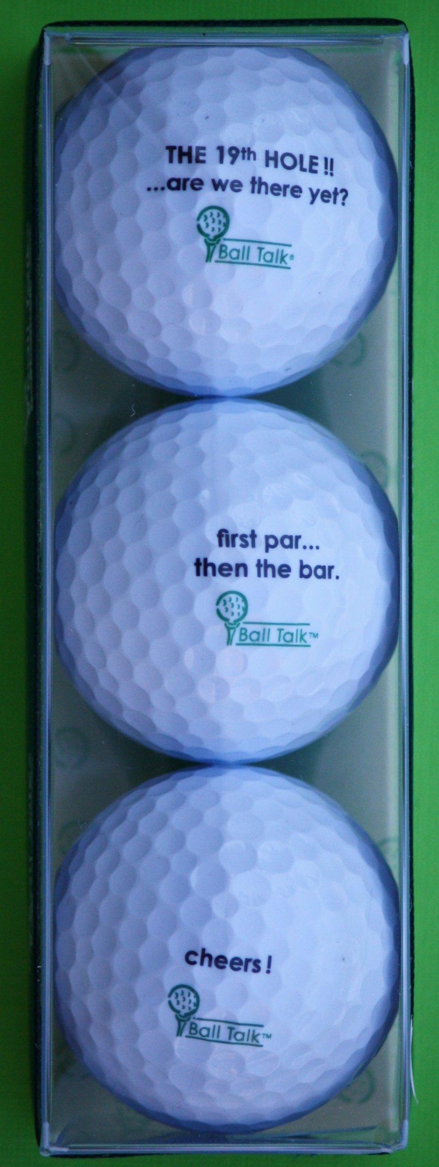 BallTalk Golf Balls - Clubbing Series 3-ball Pack containing 3 Different BallTalk Golf Balls