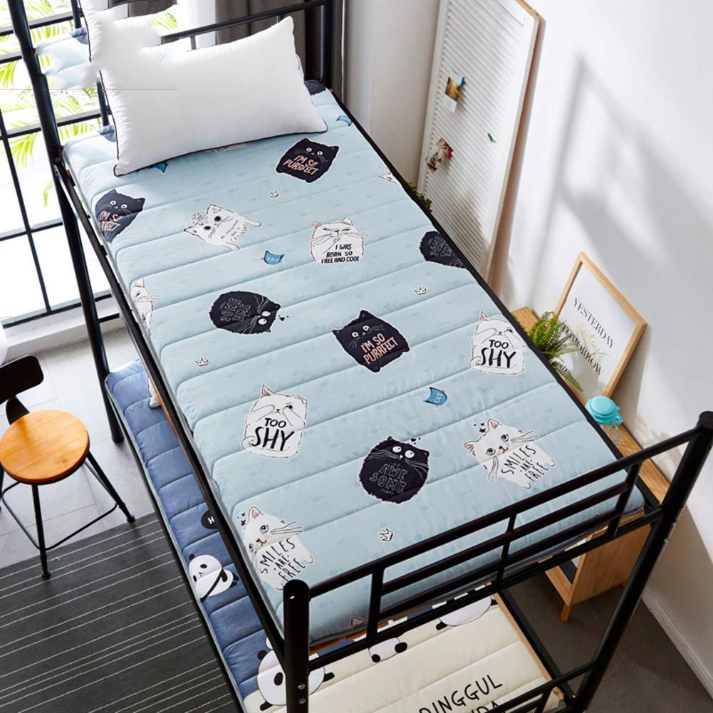 A 90x190cm(35x75inch) Thicken Tatami Floor Mattress,Foldable Futon Tatami Mattress Durable Soft Student Dormitory Mattress Baby Play mat Mattress Topper-C 100x190cm(39x75inch)