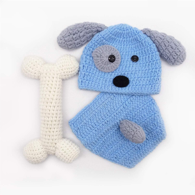 XCSSKG - Disfraz de punto de ganchillo para bebé recién nacido, para fotografía de niño o niña + sombrero para bebé