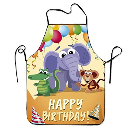 Amazon Birthday Card With Wild Animal Cartoons Kitchen Cooking