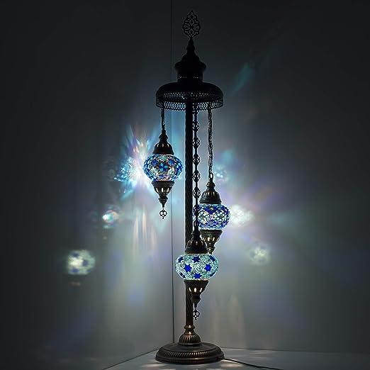 Lámpara de pie de cristal estilo tiffany estilo turco marroquí ...