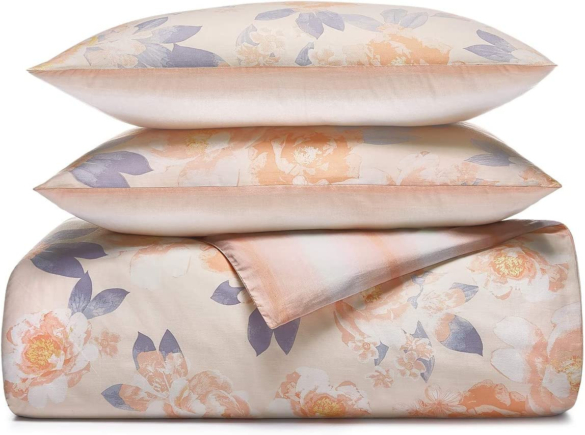 Martha Stewart Collection Whim Exposed Floral 3 Piece Full/Queen Comforter Set Pink