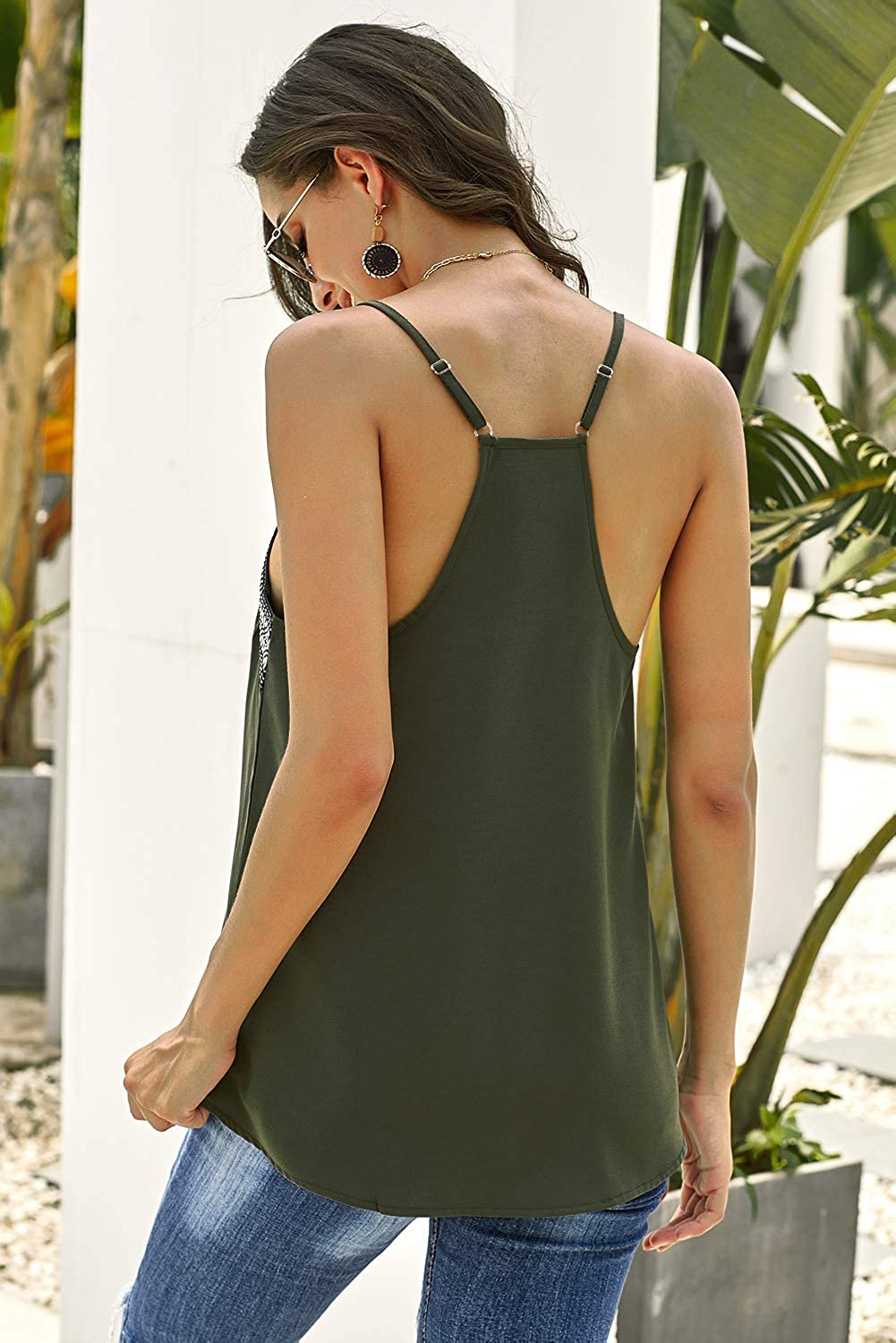 BETTE BOUTIK Womens Strappy Tank Tops Sleeveless Shirts and Blouses Summer Tunic Tops