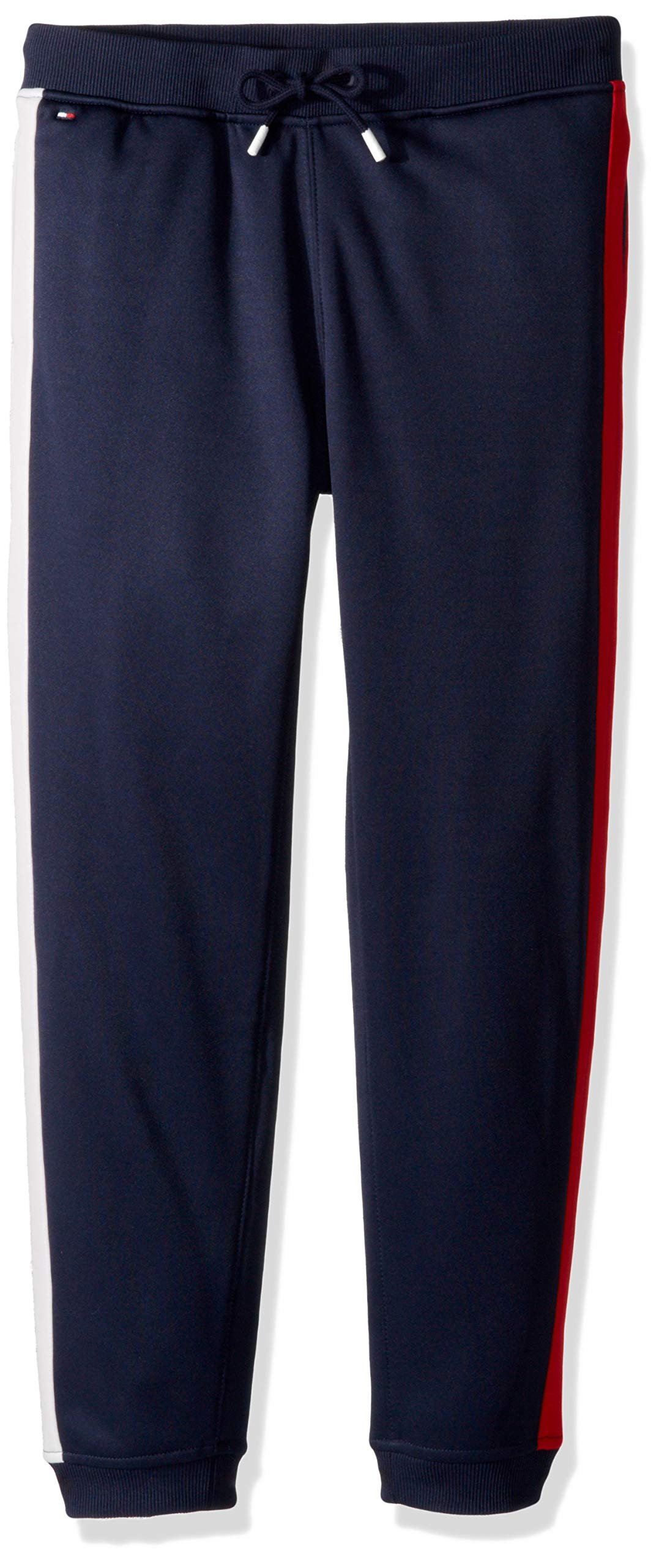 Tommy Hilfiger Boys' Adaptive Track Pants with Elastic Waist, peacoat X-Small