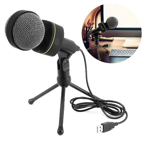Micrófono de condensador USB con trípode soporte - Tabpole Plug ...