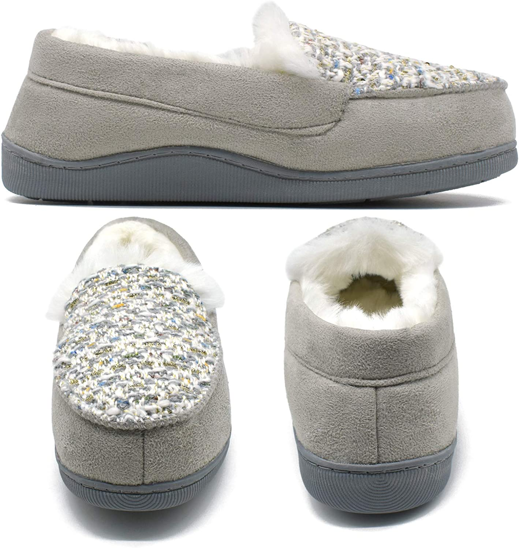 Peluche-Chaussons Mules Pom Pom Deluxe Gris Cabanes Chaussures Pantoufles Mocassins