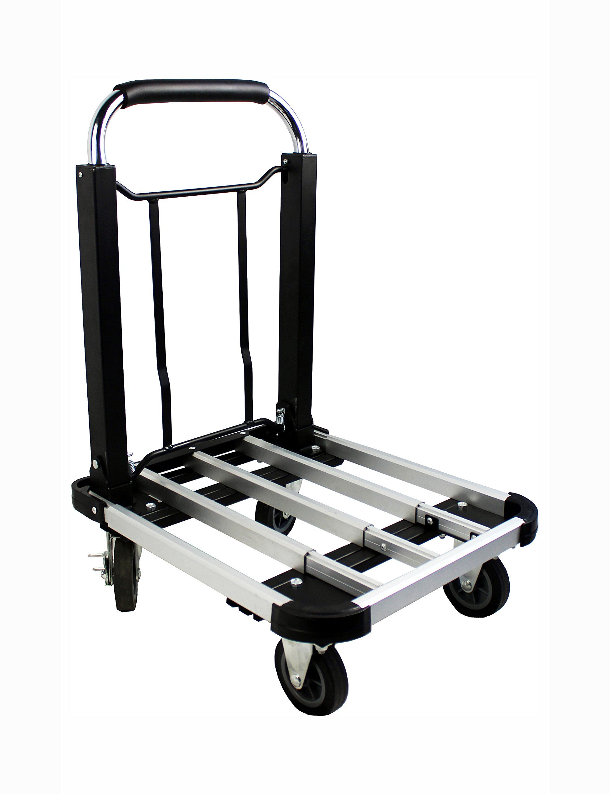 MaxWorks 80744 Aluminum Folding Truck/Dolly-330 Lb. Capacity with Adjustable Platform and Telescoping Handle